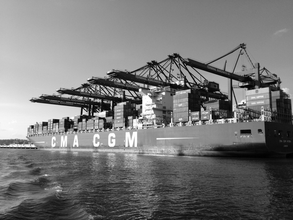 Big Ship and Crane